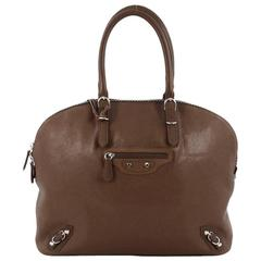 Balenciaga Carousel Bowling Bag Classic Studs Leather Large