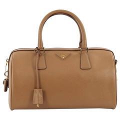 Prada Lux Convertible Boston Bag Saffiano Leather Medium
