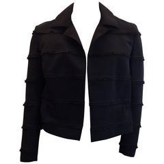 Akris Black Fringe Jacket