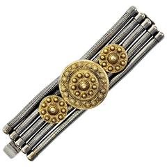 Edouard Rambaud Paris Vintage Bracelet Signed Mixed Metal