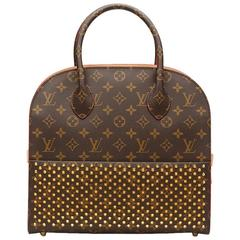 2010s Louis Vuitton Studded Canvas Shopping Bag Christian Louboutin
