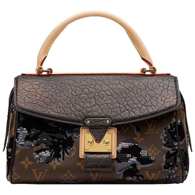 2010s Louis Vuitton Canvas, Calfskin & Sequin Fleur De Jais Carrousel  1
