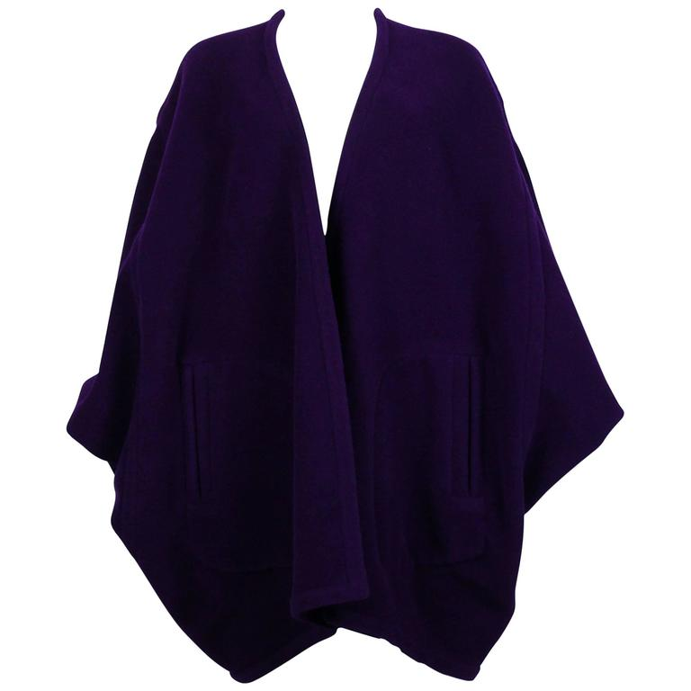 Yves Saint Laurent Rive Gauche Vintage Purple Cape