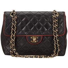 Chanel Black Quilted Lambskin Chain Flap