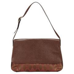 Givenchy Brown Argyle Jacquard Shoulder Bag