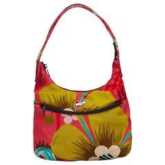 Gucci Pink Printed Canvas Shoulder Bag