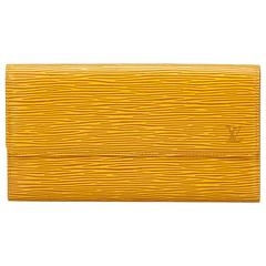 Louis Vuitton Yellow Epi Leather Long wallet