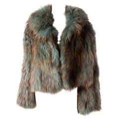 Sonia Rykiel Rare Early 00's Ombre Fox Fur Jacket