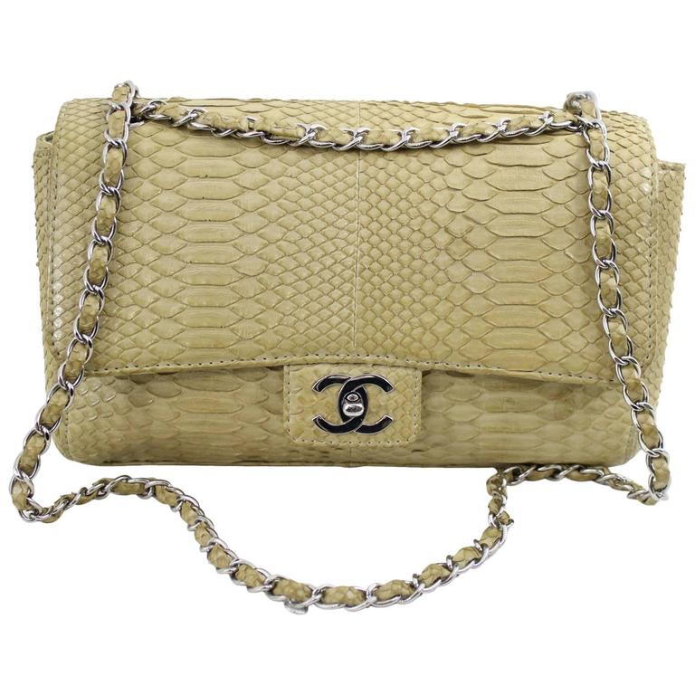 Chanel Timeless Bag in Exotic skin and stainless steel  hardware