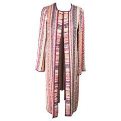 MISSONI Muticolor Knitted Silk Blend COAT