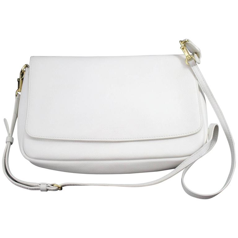 Louis Vuitton 2014 Monaco Cruise Collection White Grained Leather Bag