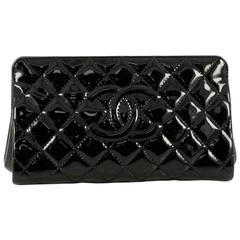 Chanel Timeless CC Clutch Quilted Patent Small