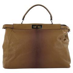 Fendi Peekaboo Handbag Leather with Calf Hair Interior Large