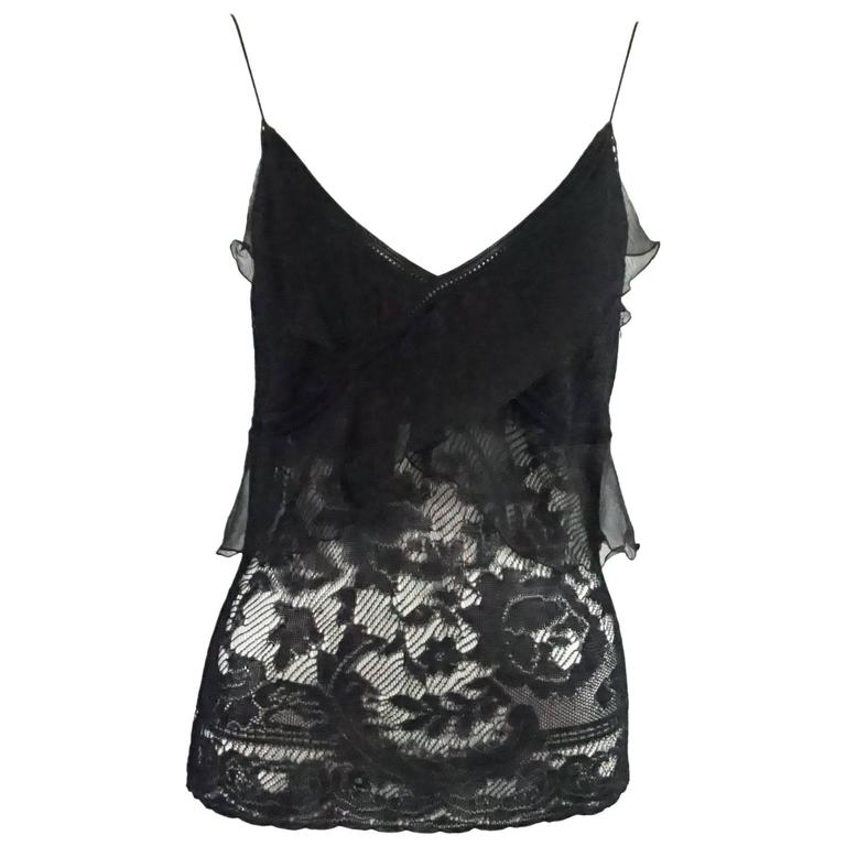 Christian Dior Black Camisole Top - M - NWT For Sale