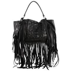 Prada Convertible Fringe Shoulder Bag Woven Nappa Leather Medium