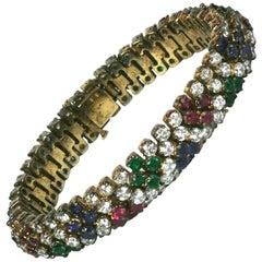Jolie Gabor Faux Gemstone Bracelet Provenance Bunny Mellon