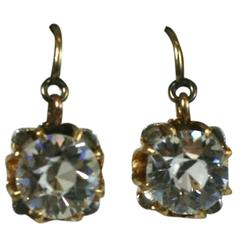 Victorian Solitaire Paste Earrings