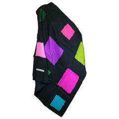 Balenciaga Color Block Silk Twill Square