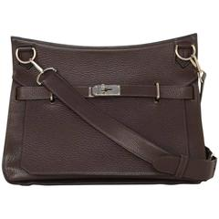 Hermes Brown Clemence 34cm Jypsiere Crossbody Messenger Bag