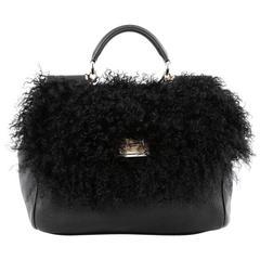 Dolce & Gabbana Miss Sicily Handbag Shearling Large