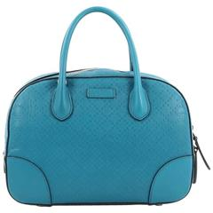 Gucci Bright Convertible Top Handle Bag Diamante Leather Small