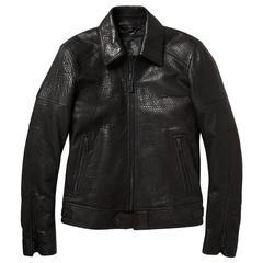 New BELSTAFF Men's MARSHE Black 100% Leather Jacket Italian 48 - US 38