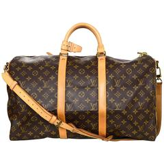 Louis Vuitton Monogram Keepall Bandouliere 50 Duffle Bag