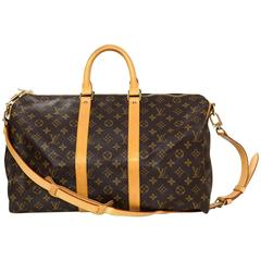 Louis Vuitton Monogram Keepall Bandouliere 45 Duffle Bag