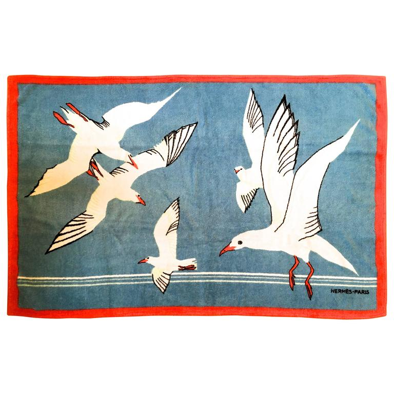 Hermes Beach Towel - 100% Cotton For Sale