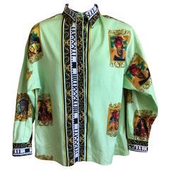 Versus Gianni Versace Rare1993 Cotton Indian Print Men's Large Shirt