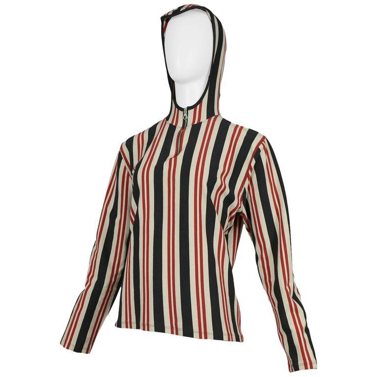 Jean Paul Gaultier Stripe Hood Zip Top 1991