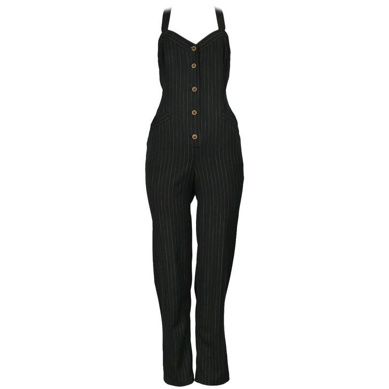 Jean Paul Gaultier Pinstripe Jumpsuit For Sale