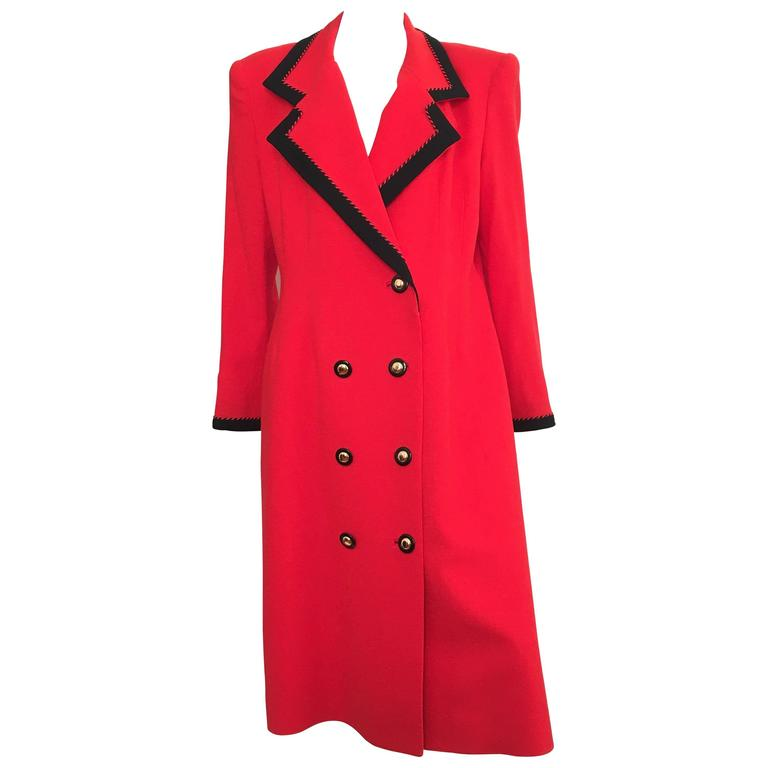 Lilli Ann 1980s Red Wool Coat Size Large. 1