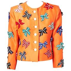 Yves Saint Laurent Jacket with Sequined Bow Detail