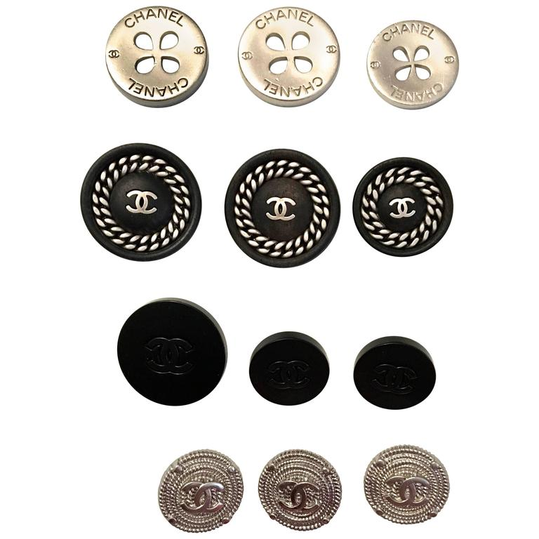 Set of Twelve Chanel Buttons  1
