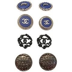 Chanel Buttons - Lot of 8 Assorted Buttons