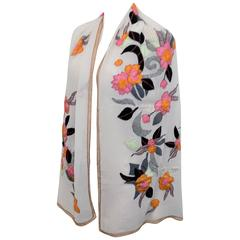 Dries Van Noten New oversized silk embroidered shawl kimono