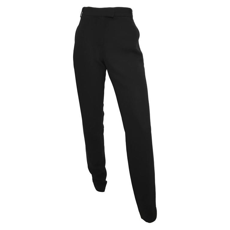 "Ann Demeulemeester Black Tuxedo ""Eyes Closed Tight"" Pants Size 8 / 40"