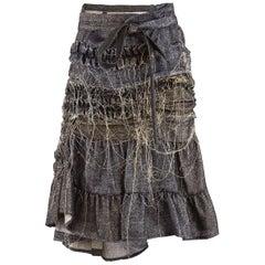 Tao Comme des Garçons Metallic Asymmetric Wrap Skirt