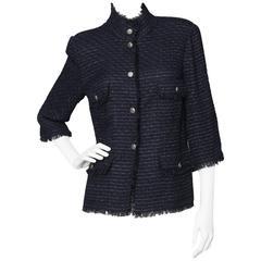 Midnight Blue Chanel Tweed Jacket