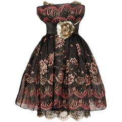 Zandra Rhodes Vintage Hand-Painted Dress