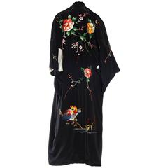 1940s Hand Embroidered Japanese Kimono