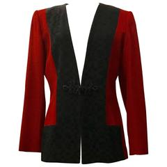 Yves Saint Laurent Encore Deep Red 1990s Blazer Jacket