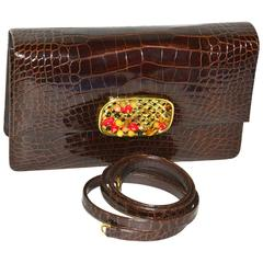 Iconic Darby Scott Alligator and Stone Bag