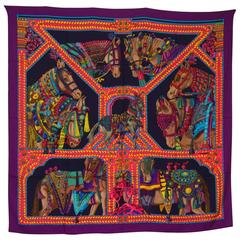 Hermes La Danse du Cheval Marwari Cashmere & Silk Shawl