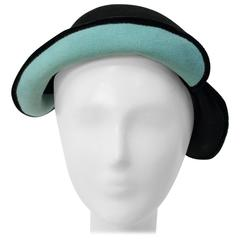 40s Felt Hat with Teal