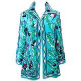 EMILIO PUCCI Vintage 1960's Terry Cloth Velour Swimsuit Cover Up Size 2 4