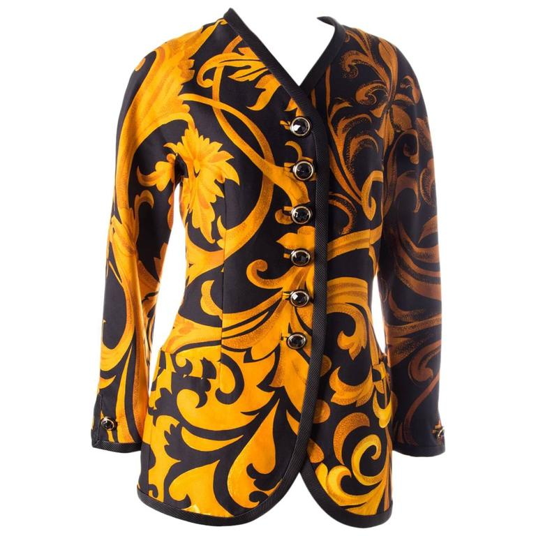 Gianni Versace Iconic 1991 Baroque Print Jacket 1