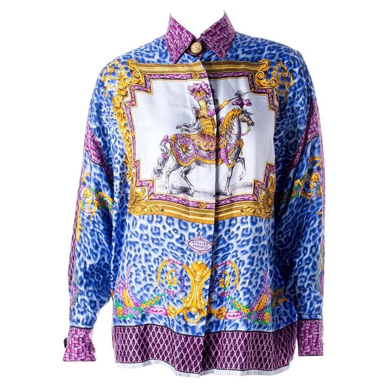 Gianni Versace Silk Rococo Shirt 1