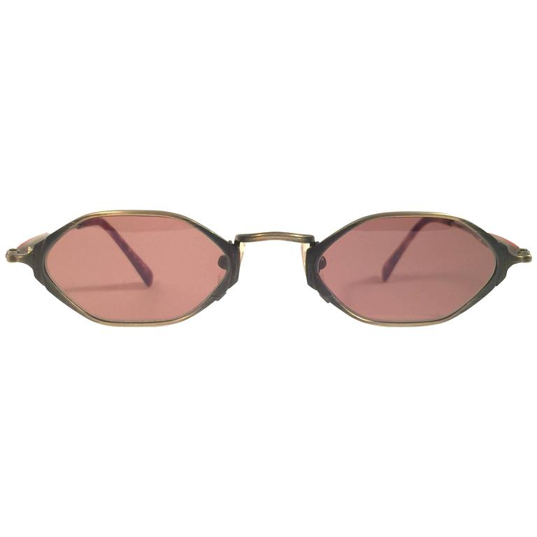 New Vintage Matsuda 10620 Hexagonal Copper 1990's Made in Japan Sunglasses